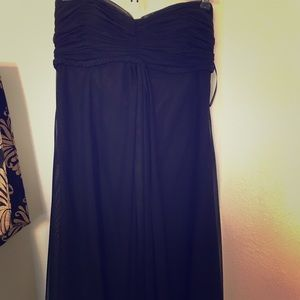 The perfect strapless little black dress